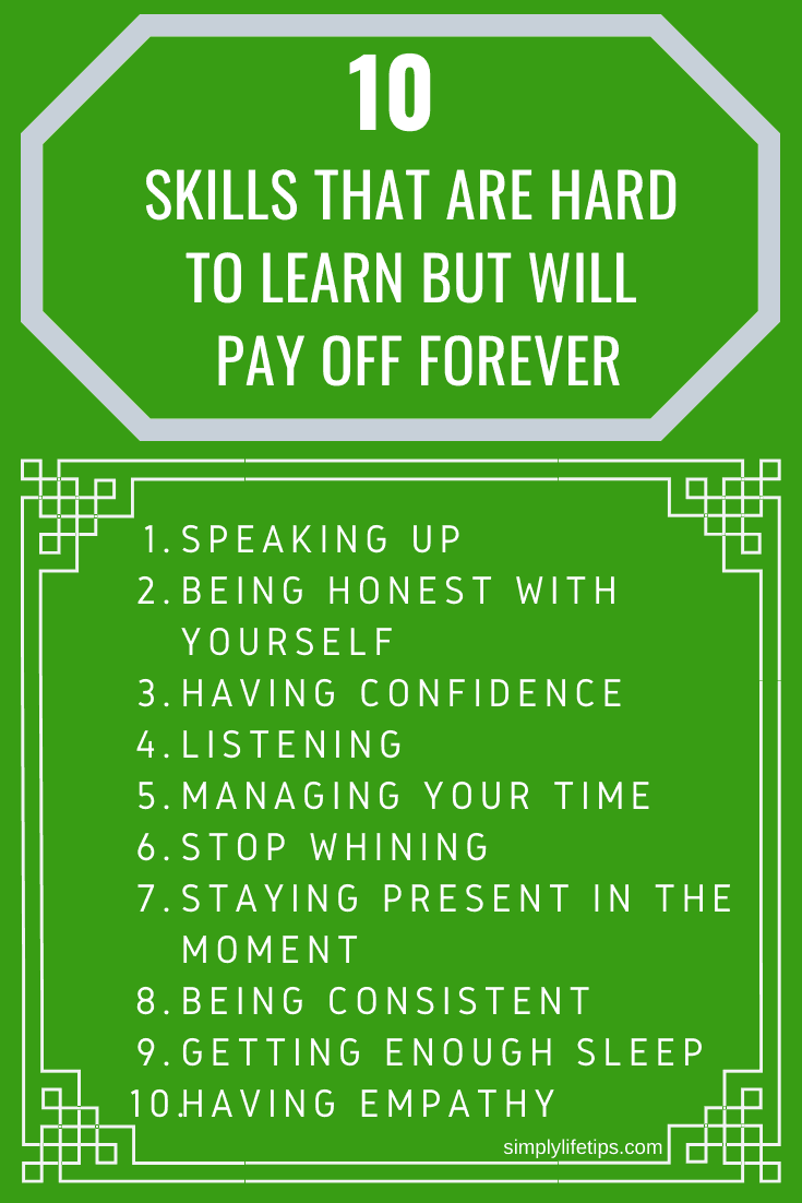 10 skills that are hard to learn