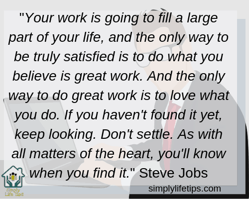 Steve Jobs Work Quote