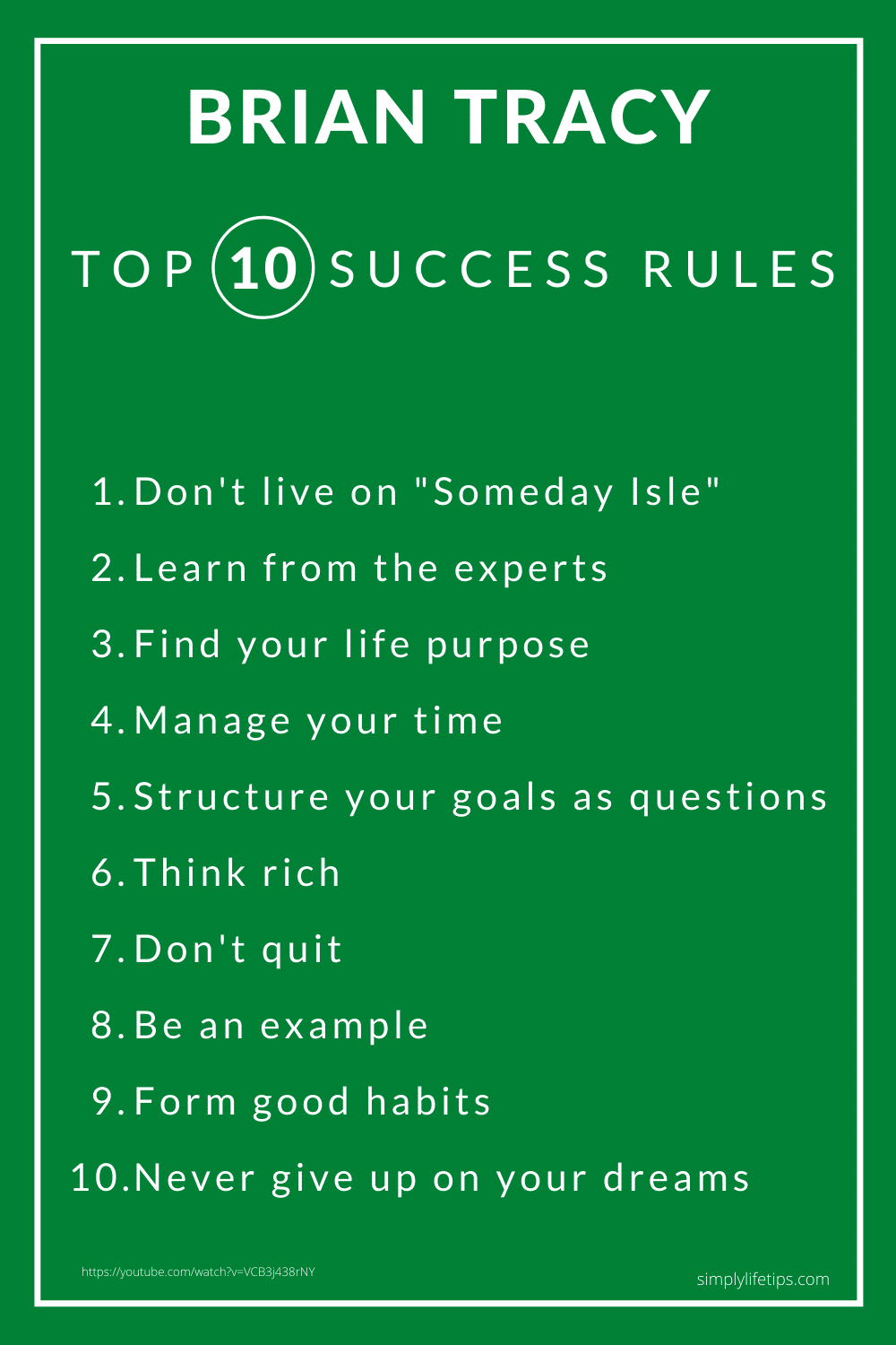 Brian Tracy Success Rules Success Story