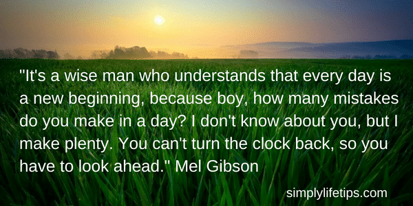 Mel Gibson Quote Common Mistakes