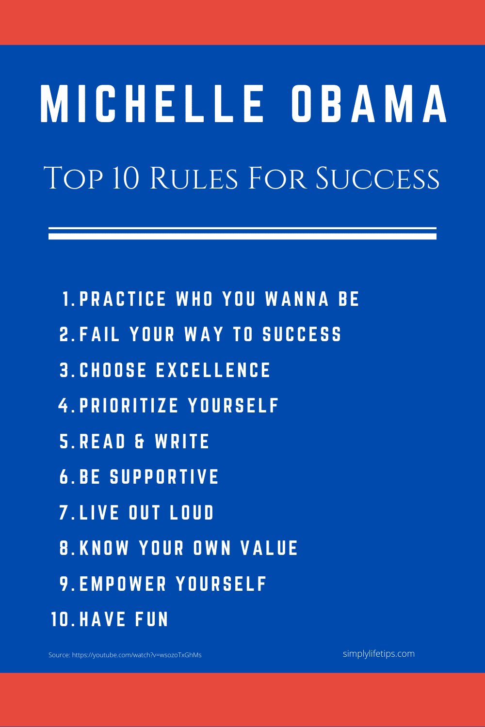 Michelle Obama Success Rules