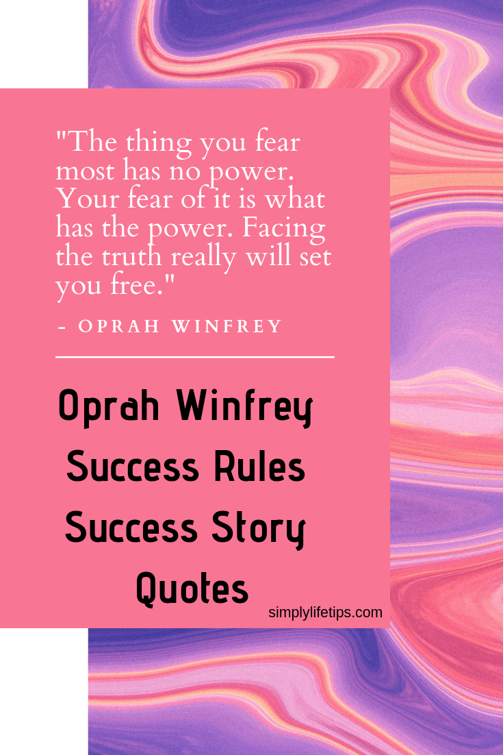 Oprah Winfrey Fear Quote