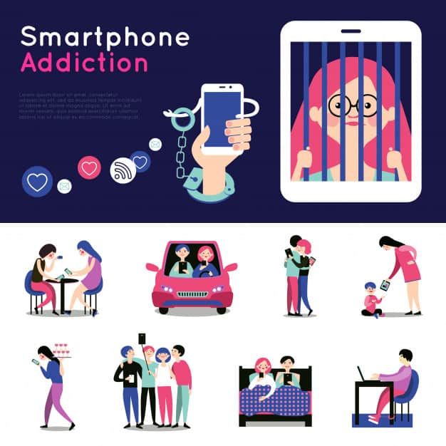 Smartphone Addiction Infographic- Dangerous Than Drug Addiction