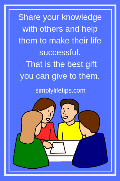 Help others for a successful life
