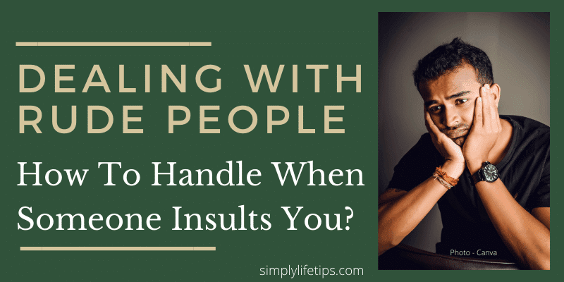 How To Handle When Someone Insults You? Dealing with Rude People