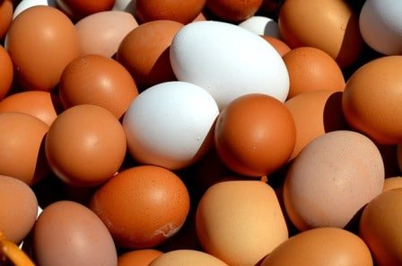 Eggs are a good source of vitamins B6 and B12