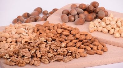 Nuts, Almonds, Walnuts