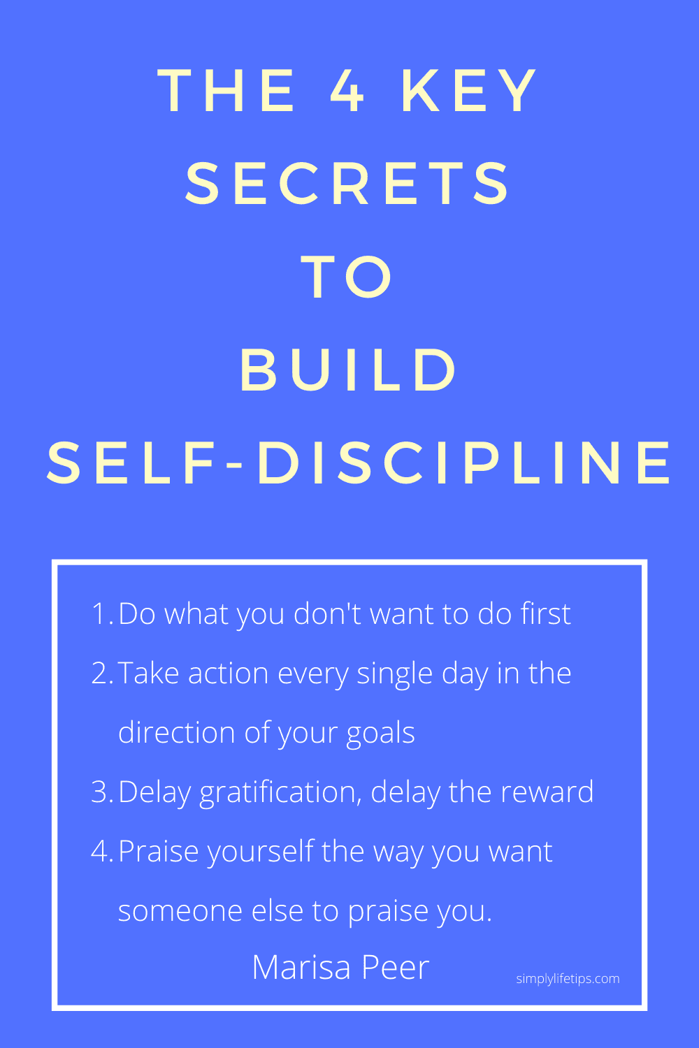 The 4 key secrets to build self-discipline - Marisa Peer