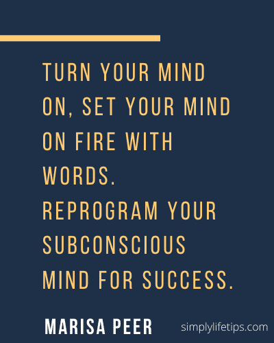 Reprogram subconscious mind Quote Marisa Peer